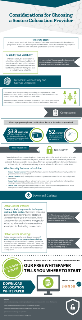 Considerations for Choosing a Colocation Provider Infographic